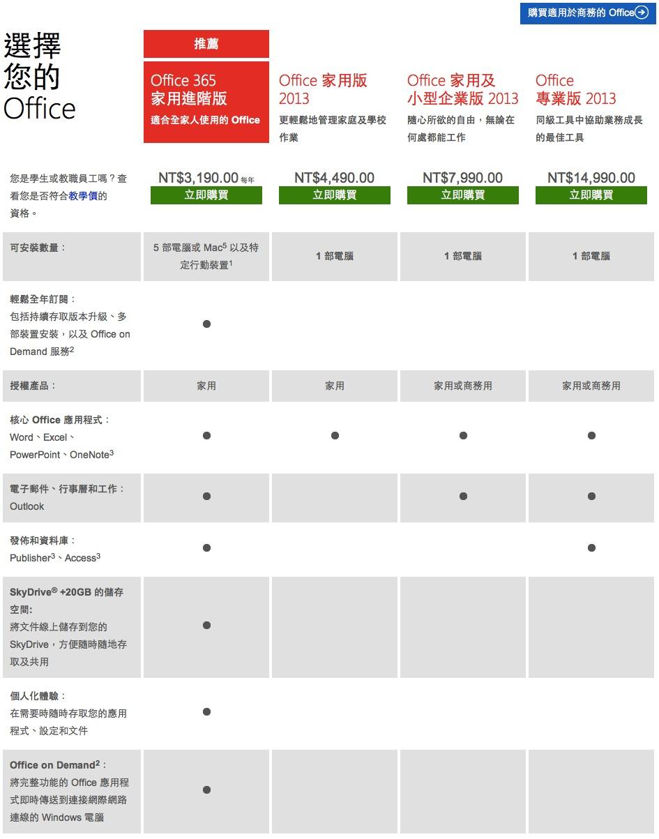 Microsoft Office 家用套件和計劃 - Office.com