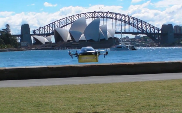 澳洲無人機「宅即便」,天上飛來教科書