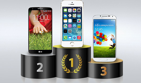 最快的智慧型手機,不意外的由 iPhone 5s 取得
