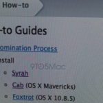 OS X 10.9 最終測試版才釋出,10.9.1 修正版與 10.10 Syrah 就現身了