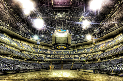 The Fed Ex Center Empty