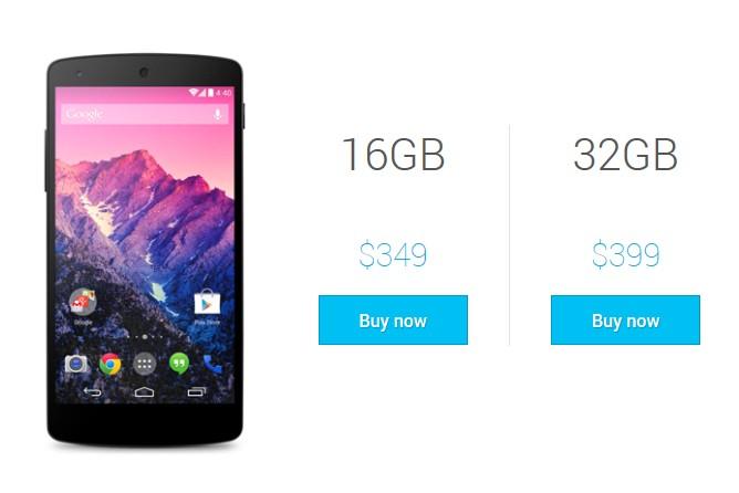 Nexus 5正式發表 首批16G版本銷售一空
