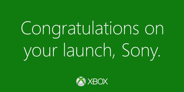 黃鼠狼給雞拜年?Microsoft 恭賀 Sony PS4 上市