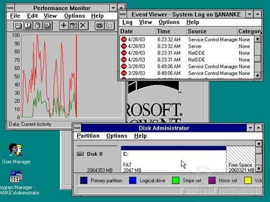 1993: Windows NT 3.1
