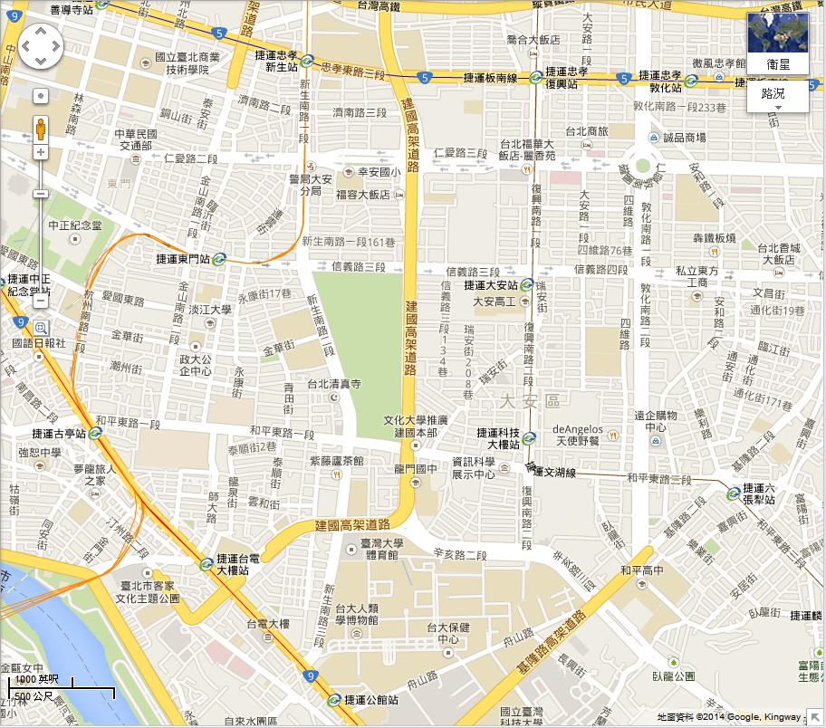 Google-maps-lack-xinyi-line