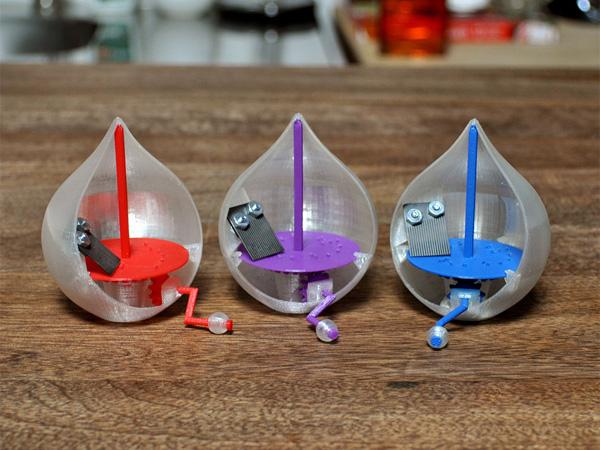 音樂盒想自選音樂?3D 列印一個「音樂雨滴」!
