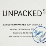 UNPACKED 5 發表會定於 MWC2014 Galaxy S5 要來了