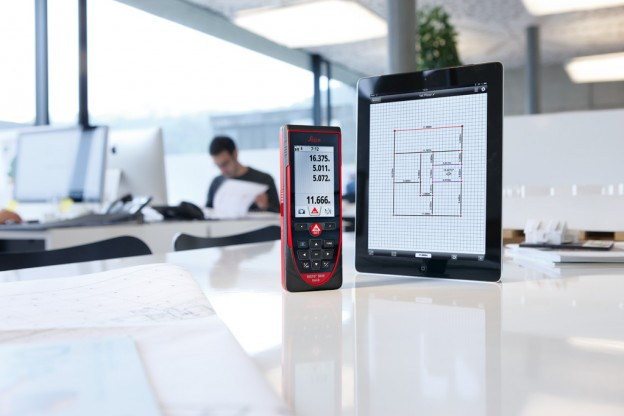 NOR008. Leica Geosystems DISTO D810_ touch - a handheld laser distance meter