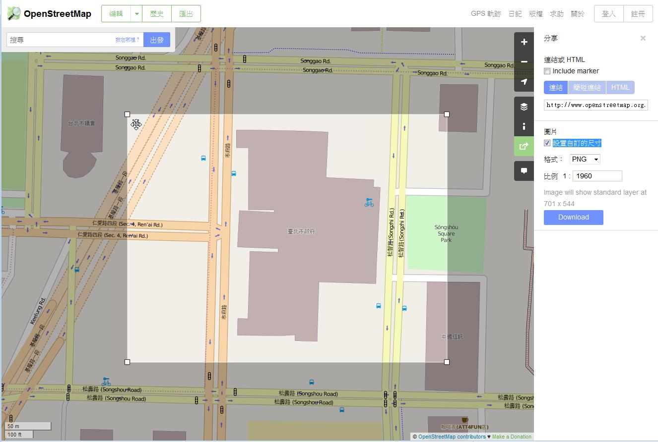 OpenStreetMap-export
