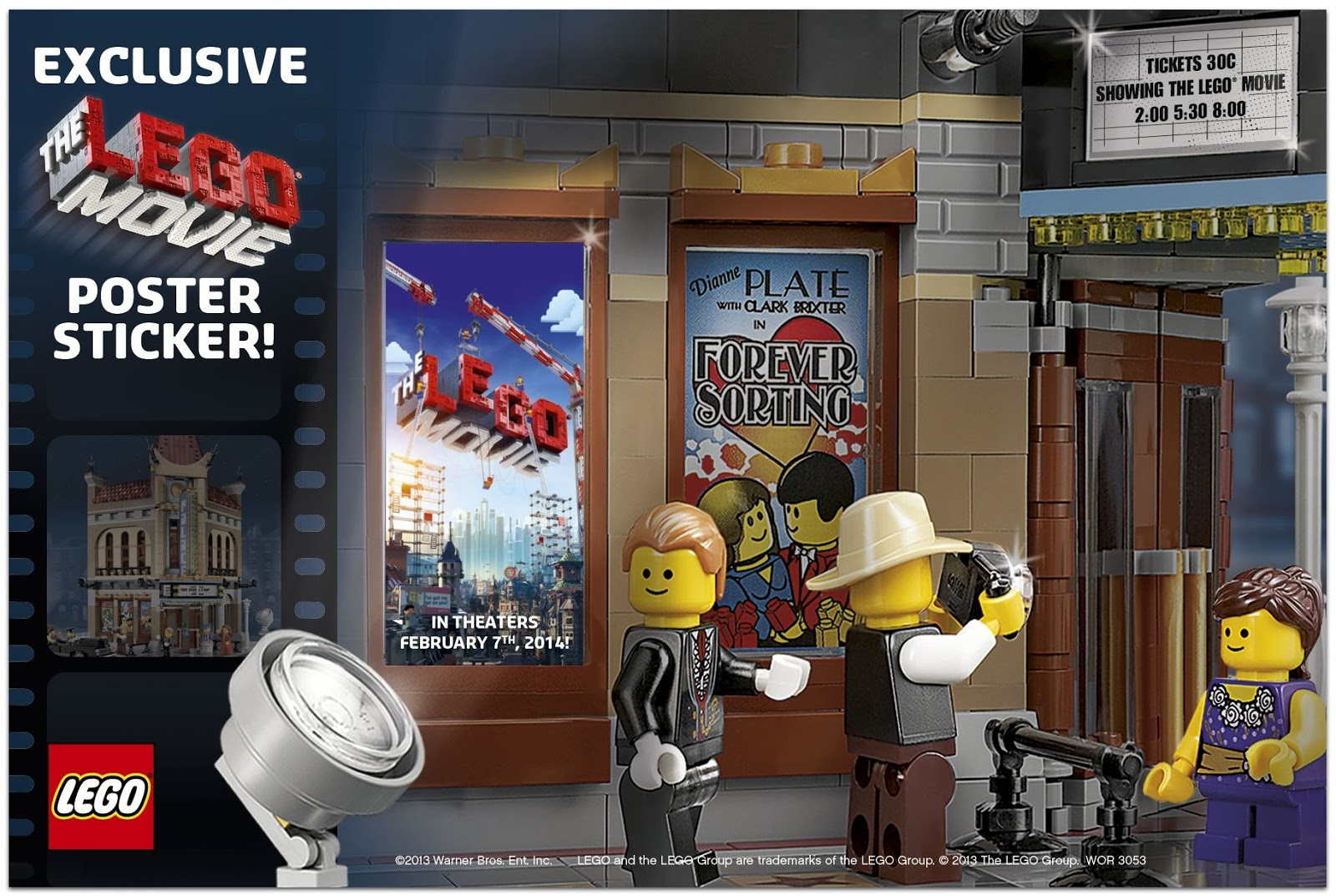 The Lego Movie poster sticker
