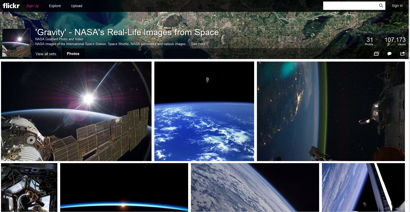 2014-03-03 14_59_17-'Gravity' - NASA's Real-Life Images from Space - a set on Flickr