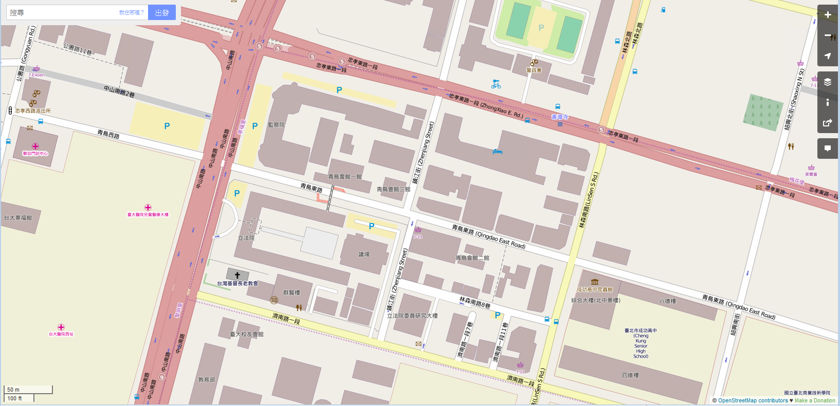 OpenStreetMap-legislative-yuan