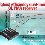 德儀推出業界最高效率、最小型無線充電接收器