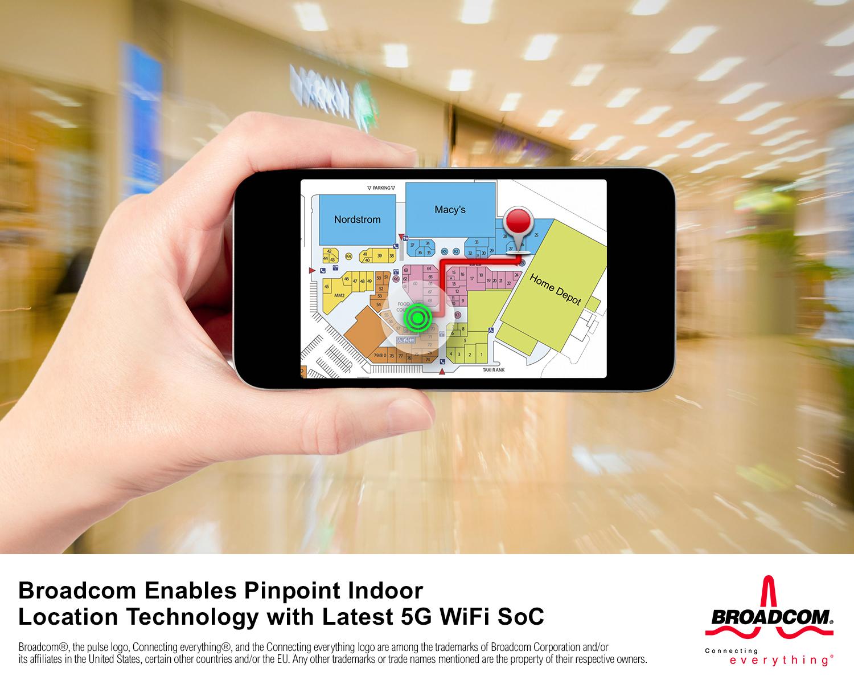 博通推出搭載精確室內定位技術的 5G WiFi SoC