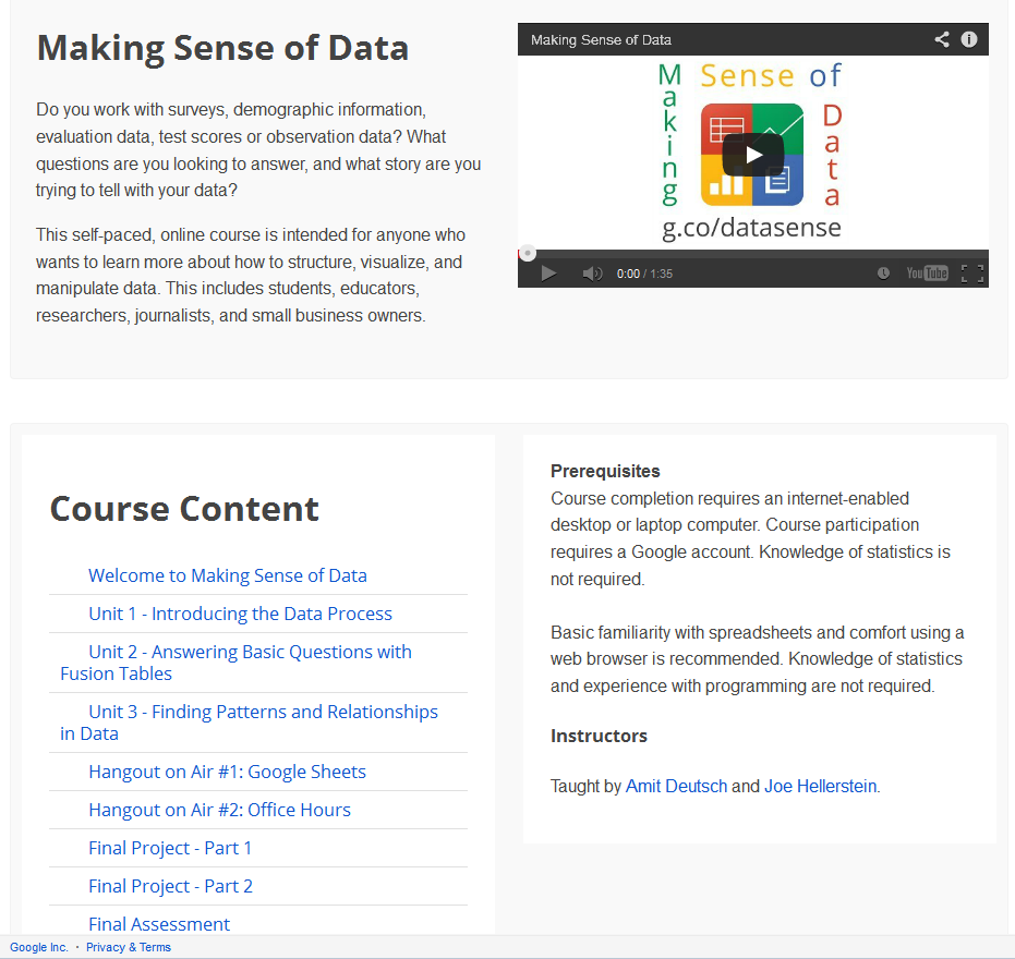 Google-Making-Sense-of-Data - Course