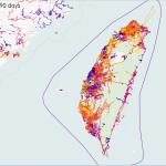 臺灣開放街圖近期編輯變動-ITO World 的最近編輯變動視覺化