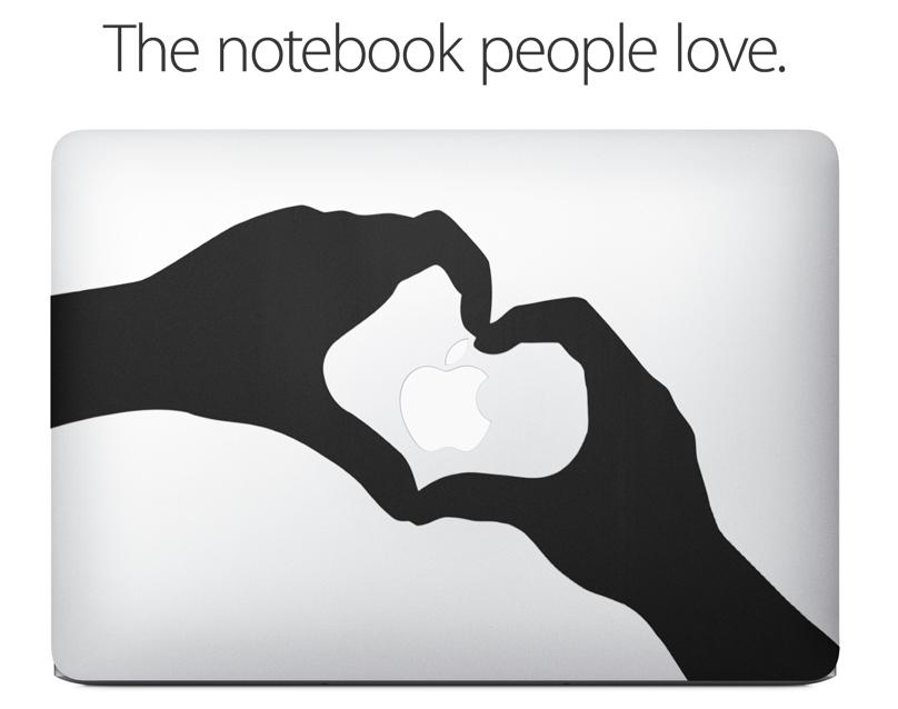 蘋果以造型貼紙推出 MacBook Air 新廣告