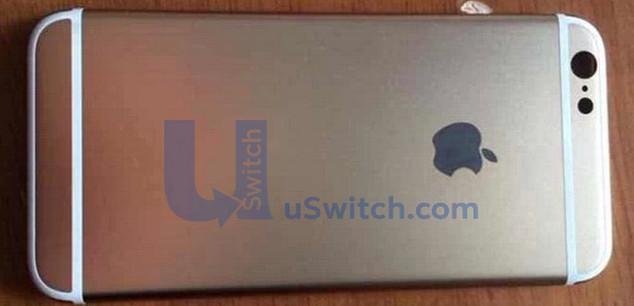 iPhone 6 背殼的蘋果商標似乎是 LED 通知燈號