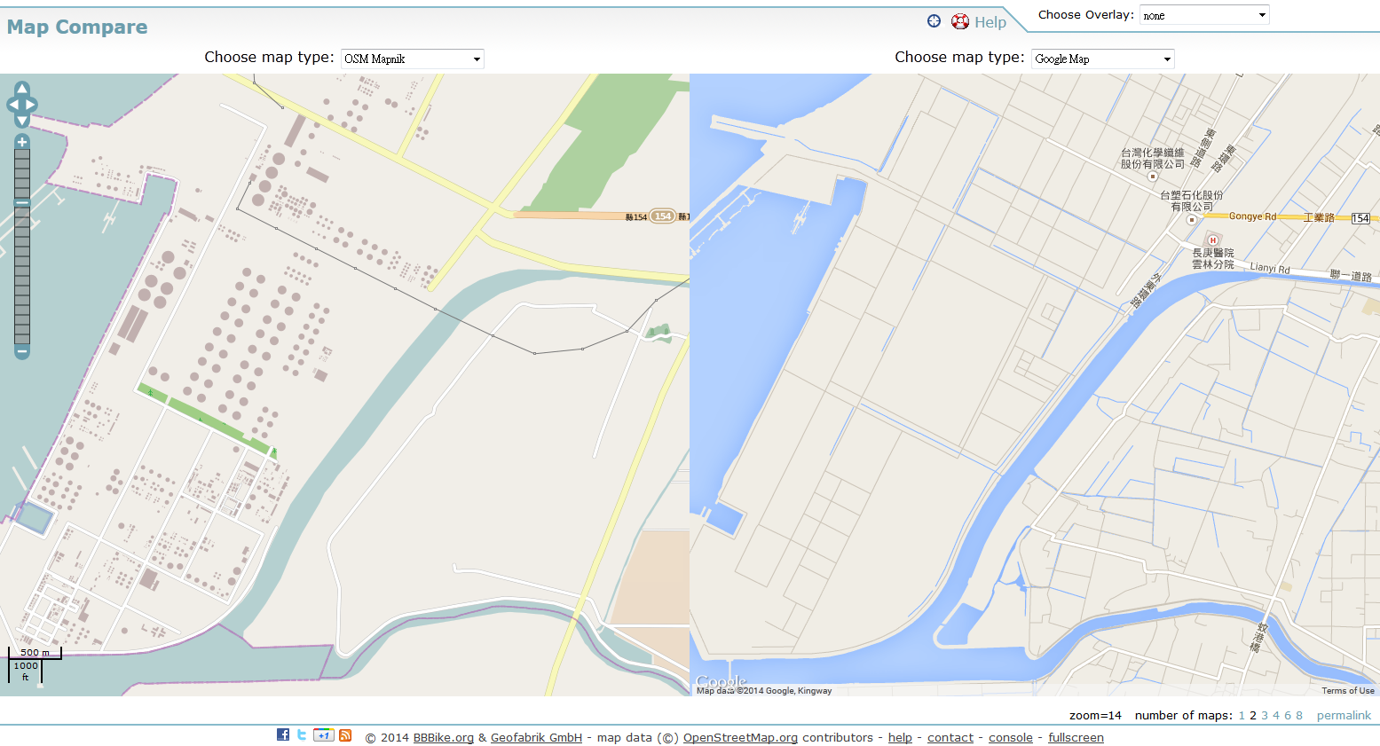 2014-08-14-Map Compare-sixth naphtha-cracker BBBike