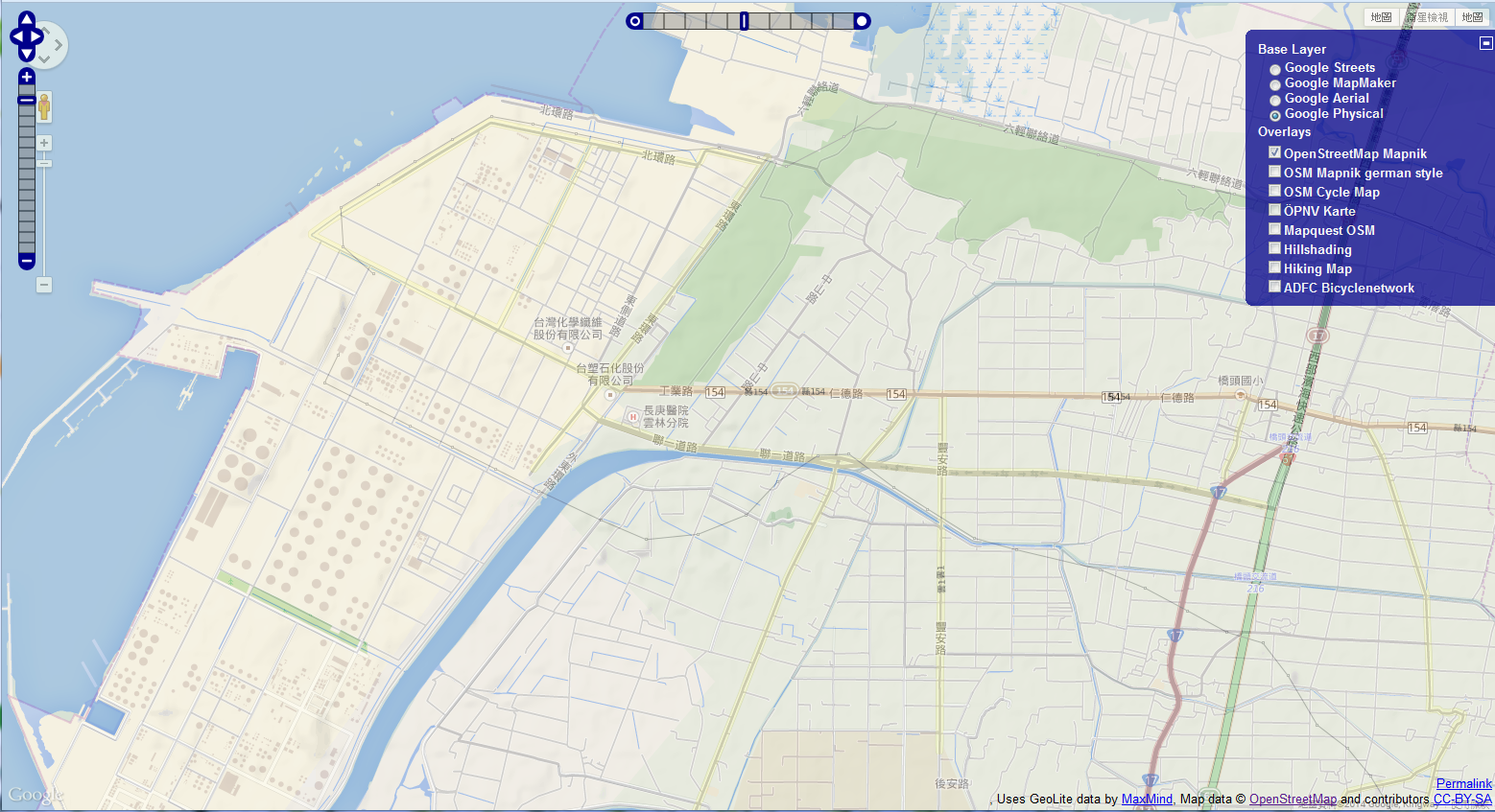 2014-08-14-transparent map comparison sixth naphtha-cracker openstreetmap google bing yahoo