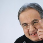 File photo of Marchionne, Chief Executive of Fiat Chrysler Automobiles (FCA), gesturing during a news conference in Turin