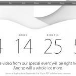 蘋果 9/9 發表會直播網址上線,發表倒數讀秒開始