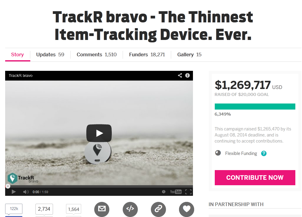 TrackR bravo - The Thinnest Item-Tracking Device Ever