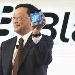BlackBerry Chief Executive John Chen introduces Passport smartphone during an official launching event in Toronto