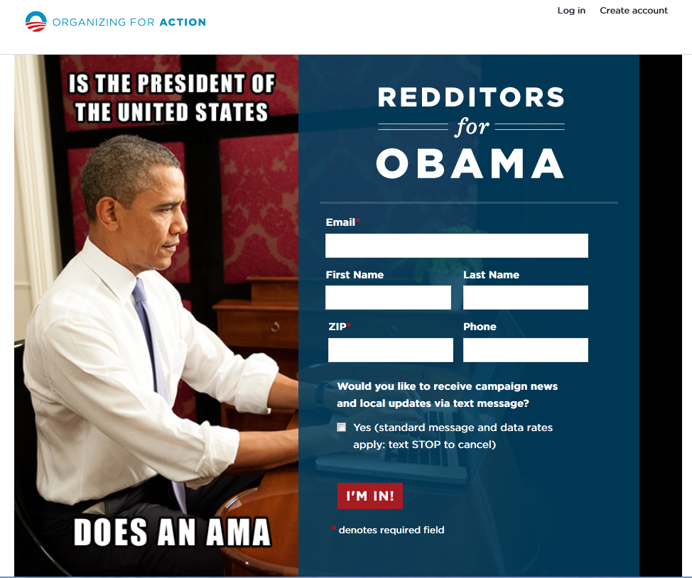 Organizing for Action _ Redditors for Obama