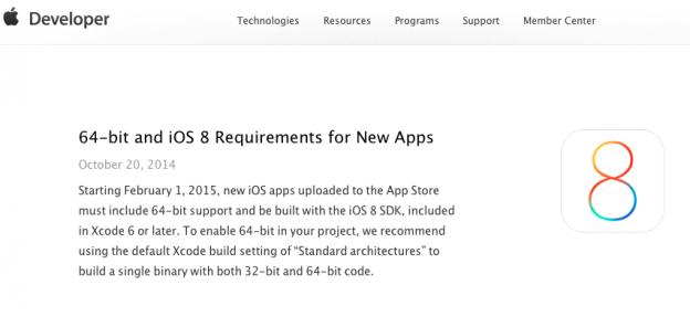 iOS 8 64bit