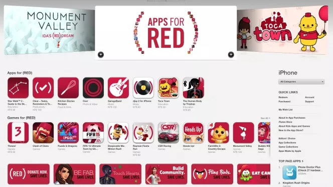 Apple for (RED)