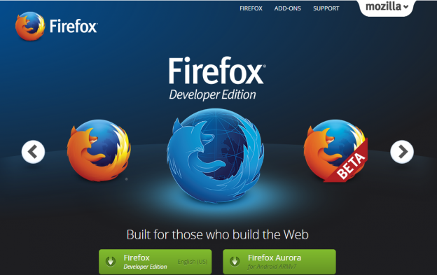 Mozilla Firefox Web Browser — Download Firefox Developer Edition or Beta   Help Determine the Next Firefox — Mozilla