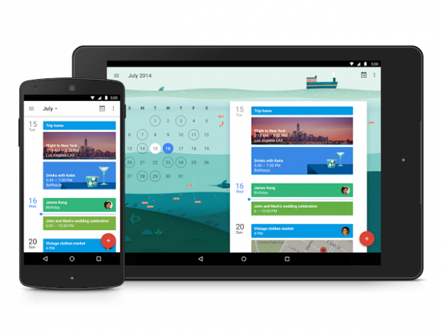 gmail and calendar app