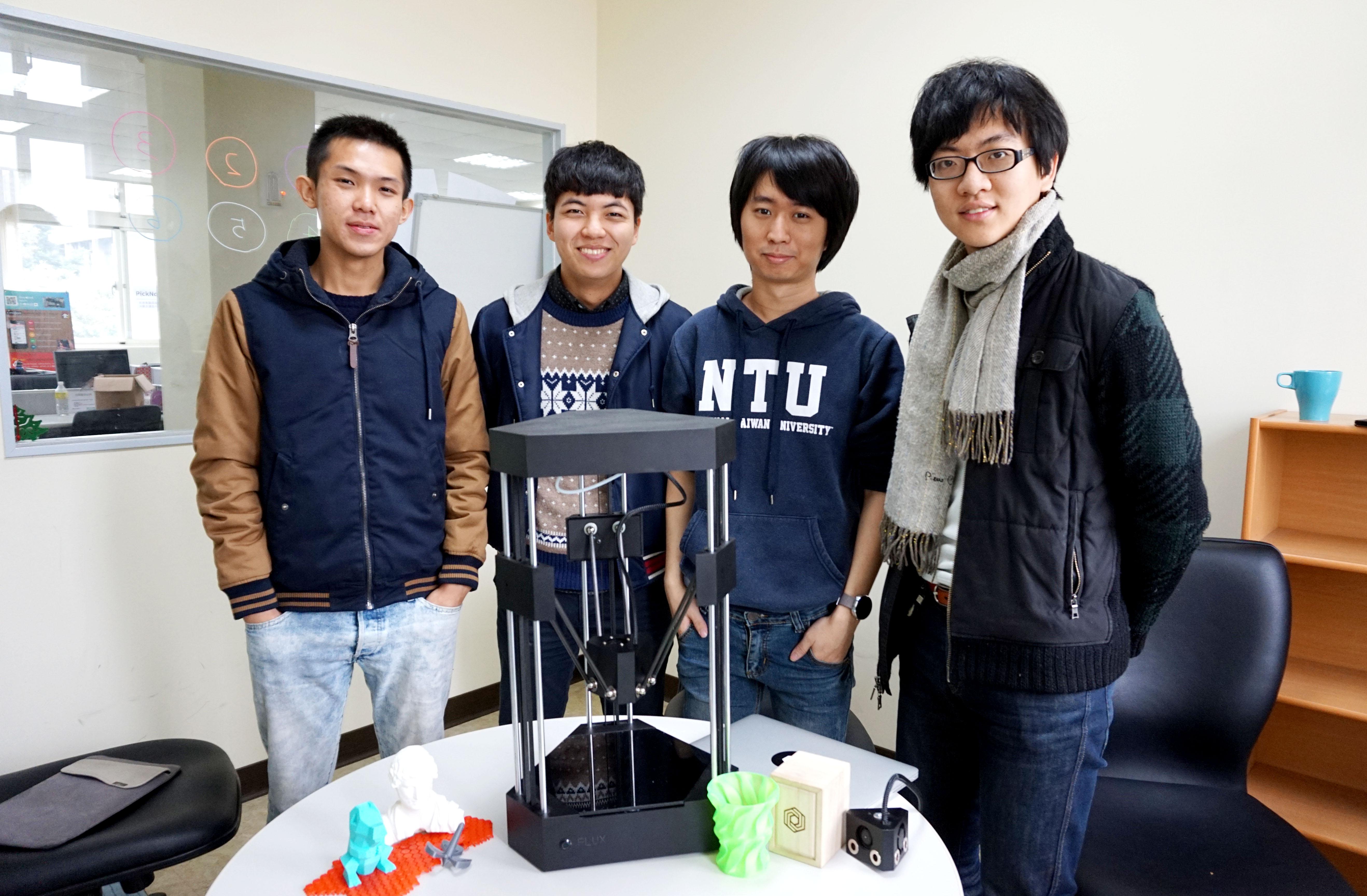 【專訪】休學創業募到 4,500 萬和矽谷精神,FLUX 3D 印表機印出未來夢想