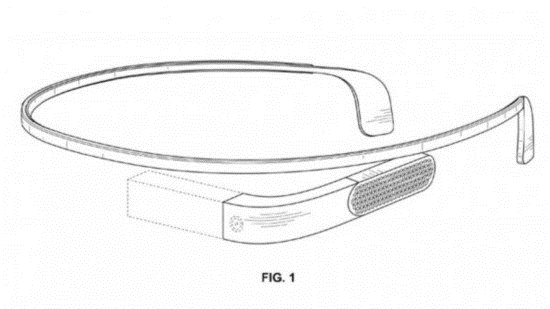 傳聞中的 Google Glass 第二代專利圖(圖片來自:網路)