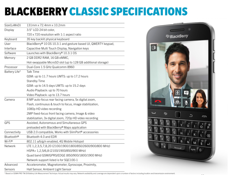 BlackBerry-Classic-Specifications