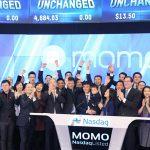 中國交友軟體「陌陌」那斯達克掛牌上市,募得 2.16 億美元