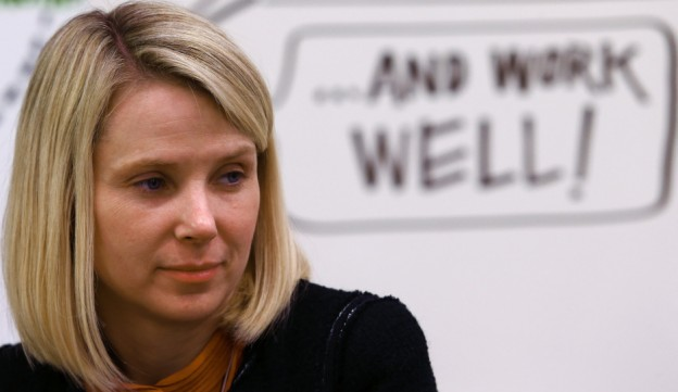 Mayer, Chief Executive Officer of Yahoo attends a session of World Economic Forum in Davos