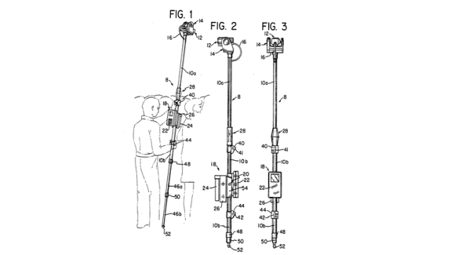 Portable video camera/monitor support, filed in 1988 by Donald N. Horn, Bern Levy.