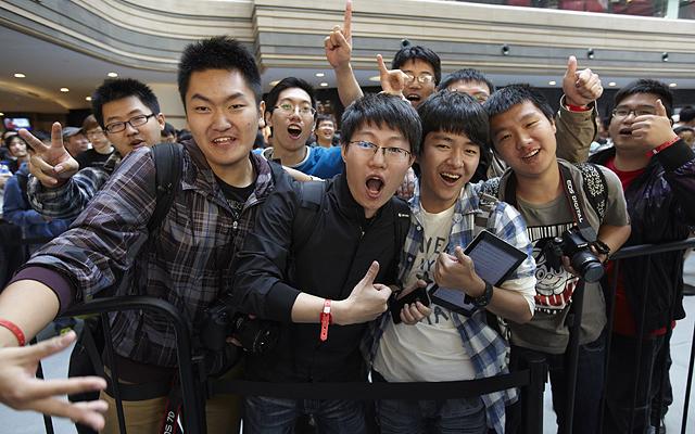 2011年9月23日蘋果上海南京東路店開業