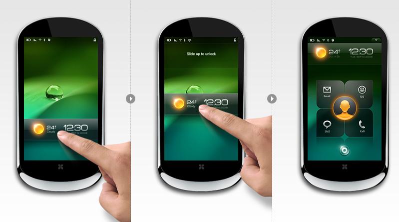 RIGO Design設計的聯想LePhone手機UI