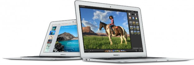 Macbook Air 11 & 13吋。取自官網