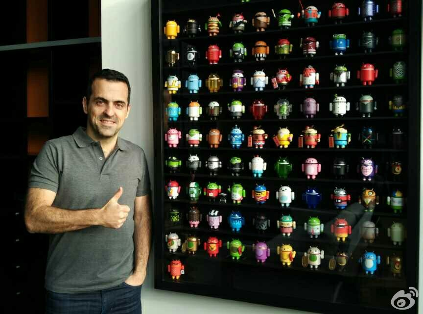 Hugo Barra?金山家中的Android?器人玩偶,Source:Hugo Barra
