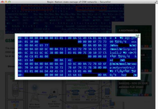 Screenshot Regin Trojaner Kaspersky NSA GCHQ