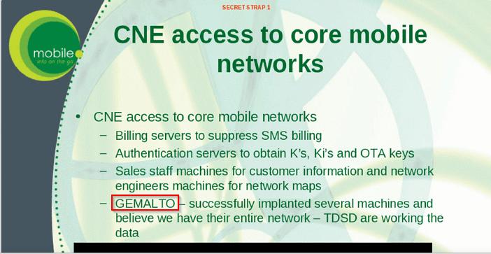slide CNE Access to Core Mobile Networks - The Intercept