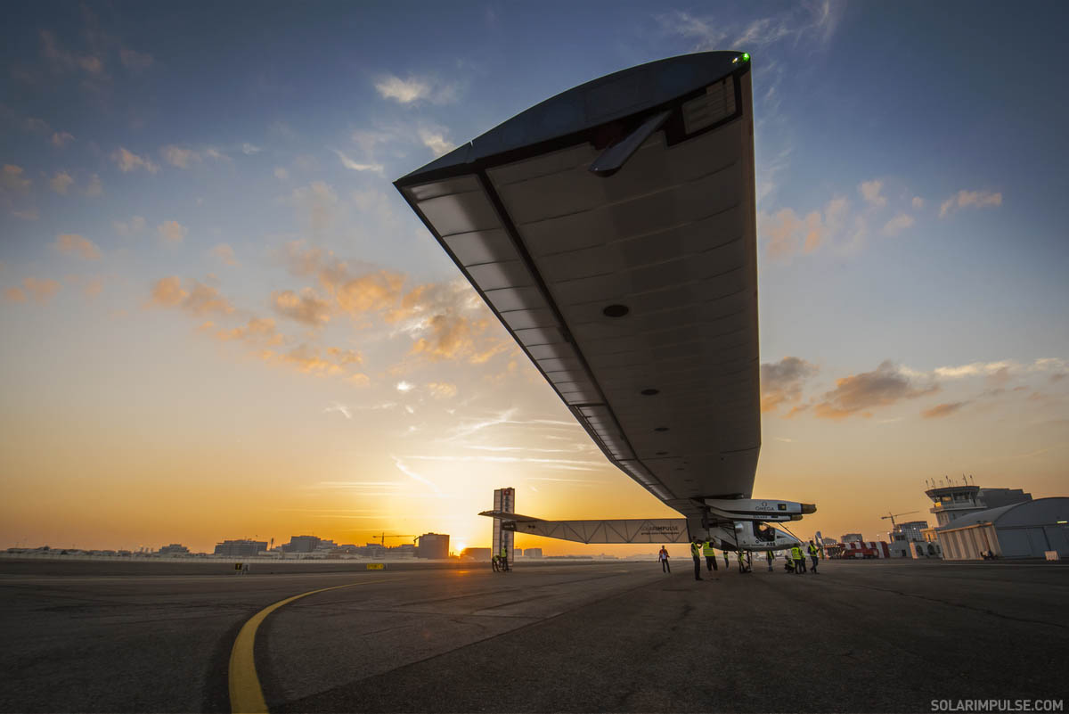 High speed test of Solar Impulse in Abu Dhabi, United Arabic Emi