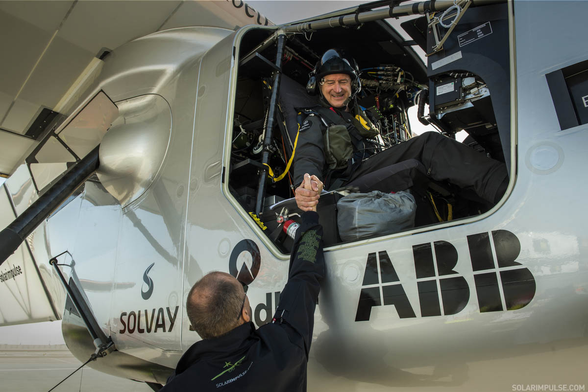 First Training Flight of Andr? Borschberg with Solar Impulse 2