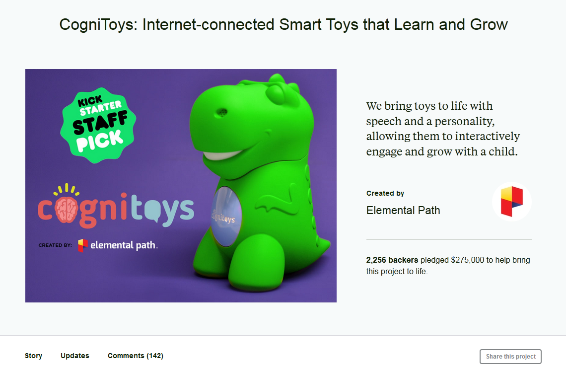 CogniToys_ Internet-connected Smart Toys that Learn and Grow by Elemental Path —