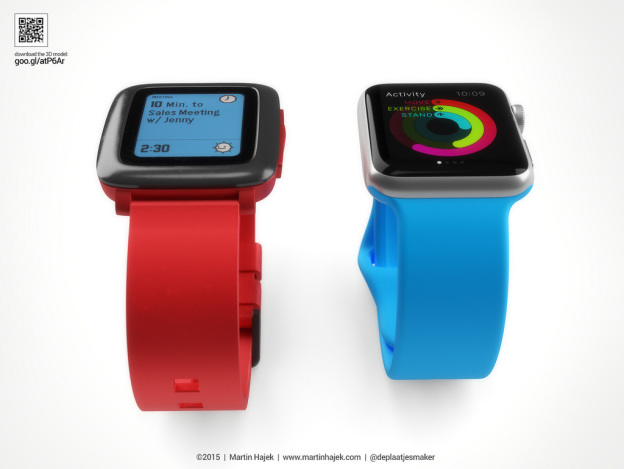 apple watch vs pebble time_ifanr0316