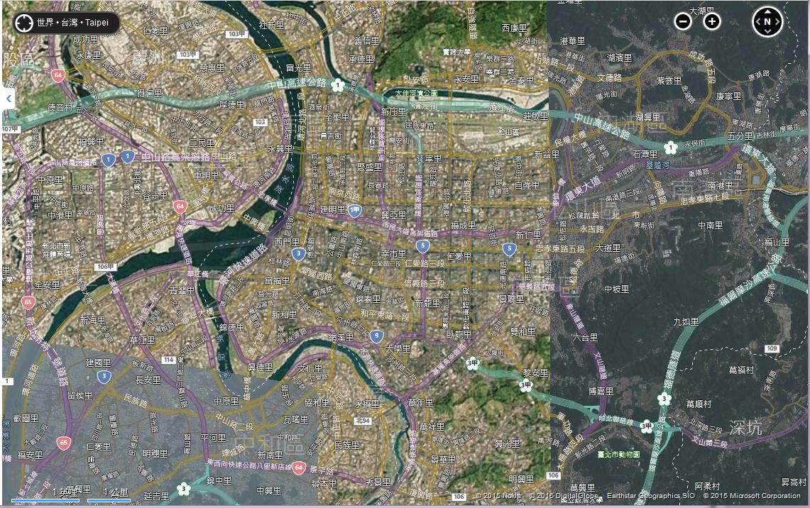 2015-04-07 -Bing-Map-Taipei-East